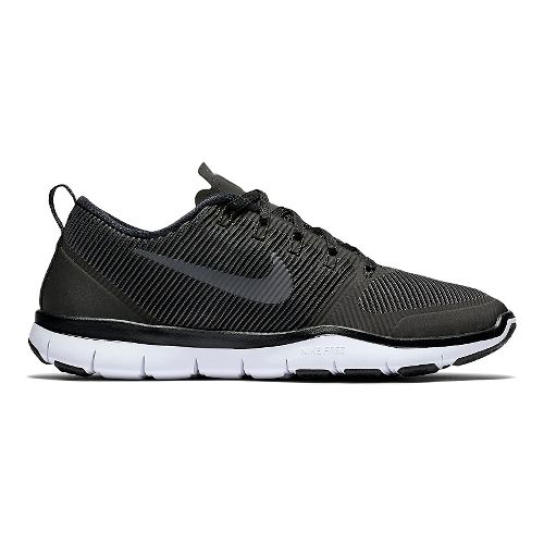 Mens Nike Free Train Versatility Cross Training Shoe - Black/White 14