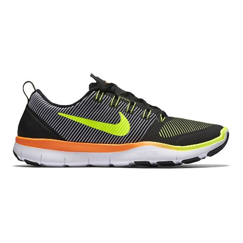 Mens Nike Free Train Versatility Cross Training Shoe - Black/Volt 10.5