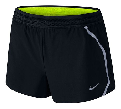 Womens Nike Aeroswift Race Lined Shorts - Black XL