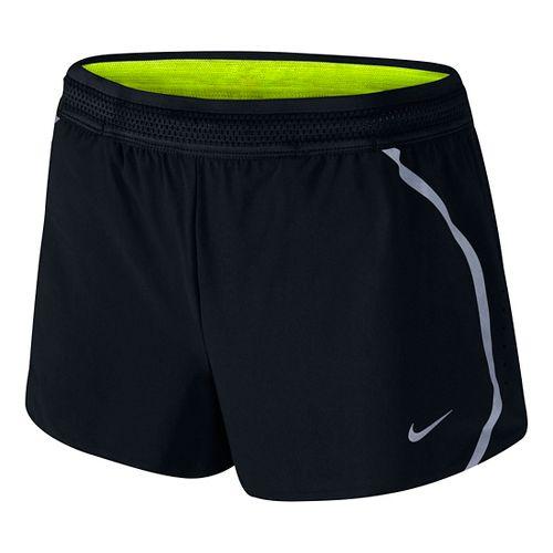 Womens Nike Aeroswift Race Lined Shorts - Black XL