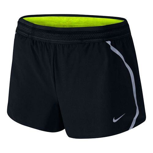 Womens Nike Aeroswift Race Lined Shorts - Black XS