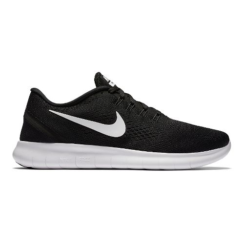 Mens Nike Free RN Running Shoe - Black/White 8.5