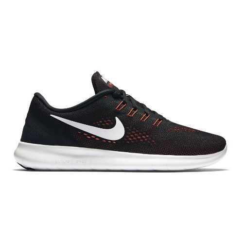 Mens Nike Free RN Running Shoe - Black/Red 11