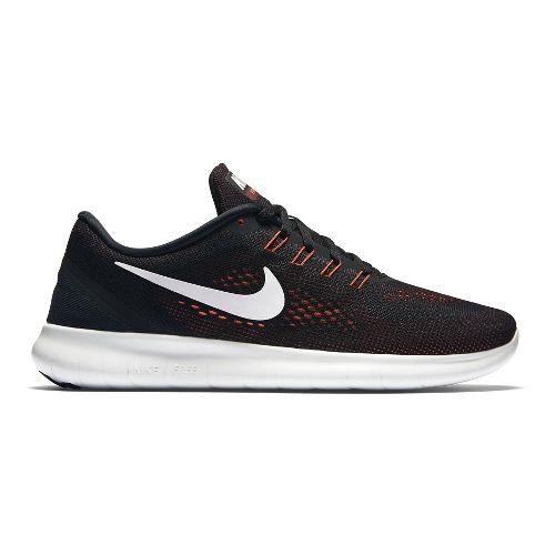 Mens Nike Free RN Running Shoe - Black/Red 12