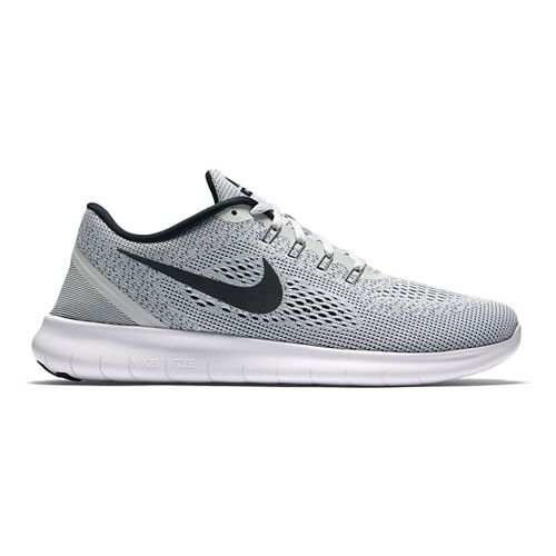 Mens Nike Free RN Running Shoe - White/Black 11