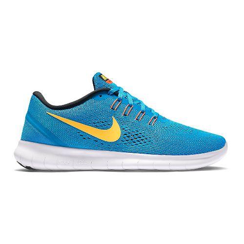 Mens Nike Free RN Running Shoe - Black/Red 11