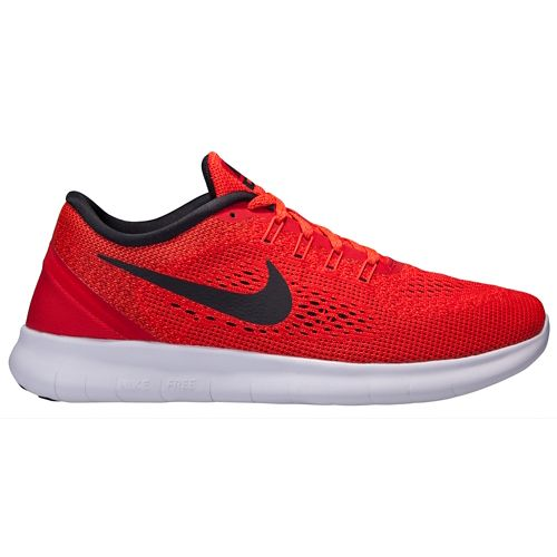 Mens Nike Free RN Running Shoe - Red/Black 10.5