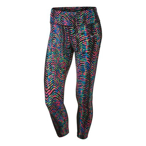 Womens Nike Power Epic Lux Crop Print 2 Tights & Leggings Pants - Multi XS ...