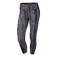 Womens Nike Power Epic Lux Crop Print 2 Tights & Leggings Pants