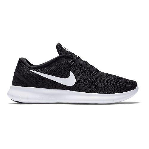 Womens Nike Free RN Running Shoe - Black/White 11