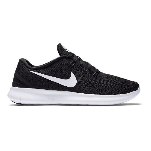 Womens Nike Free RN Running Shoe - Black/White 6