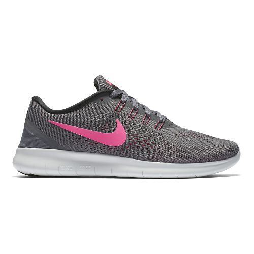Womens Nike Free RN Running Shoe - Grey/Pink 9