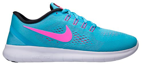 Womens Nike Free RN Running Shoe - Blue/Pink 9.5