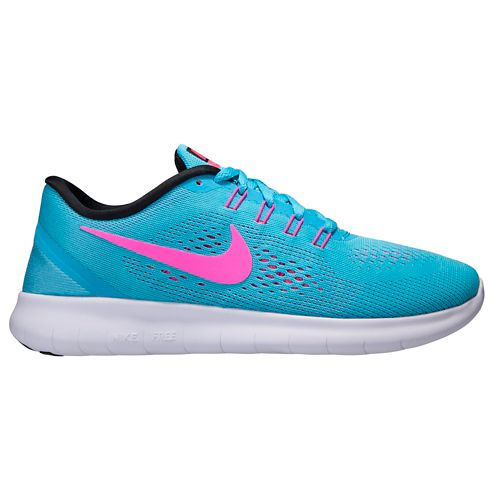Womens Nike Free RN Running Shoe - Blue/Pink 8