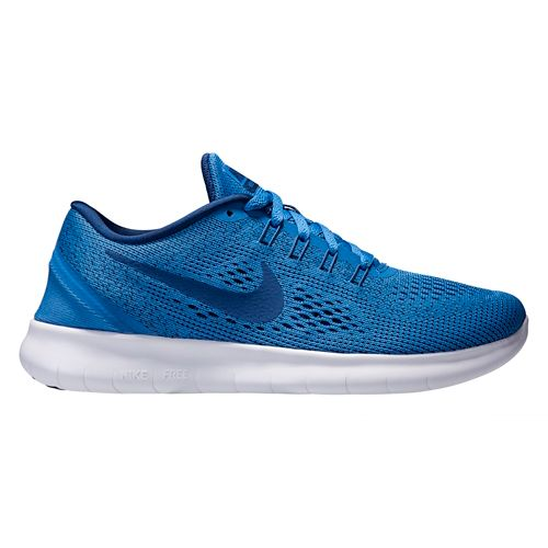 Womens Nike Free RN Running Shoe - Blue/Pink 10.5