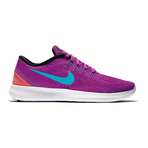 Womens Nike Free RN Running Shoe - Violet/Blue 10