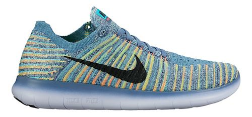 Womens Nike Free RN Flyknit Running Shoe - Multicolor 10