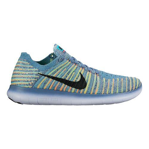 Womens Nike Free RN Flyknit Running Shoe - Multicolor 7.5