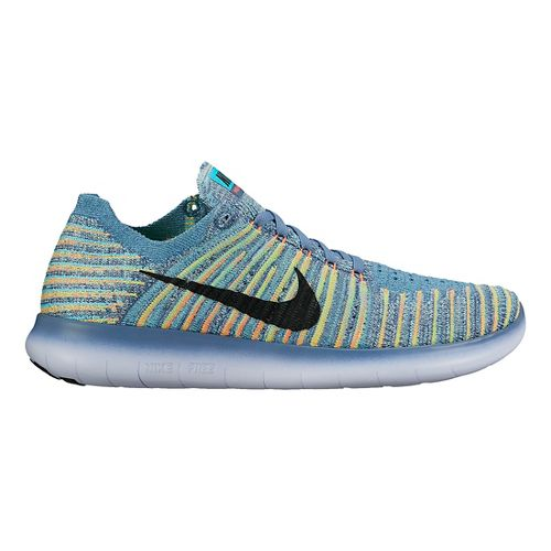 Womens Nike Free RN Flyknit Running Shoe - Multicolor 8.5