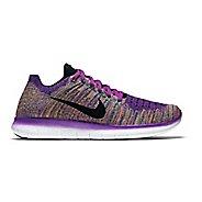 Womens Nike Free RN Flyknit Running Shoe - Violet/Multi 10.5