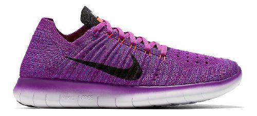 Womens Nike Free RN Flyknit Running Shoe - Violet 8