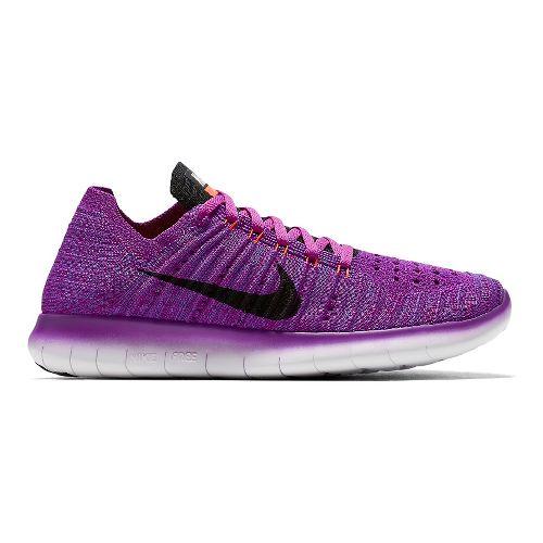 Womens Nike Free RN Flyknit Running Shoe - Violet 11