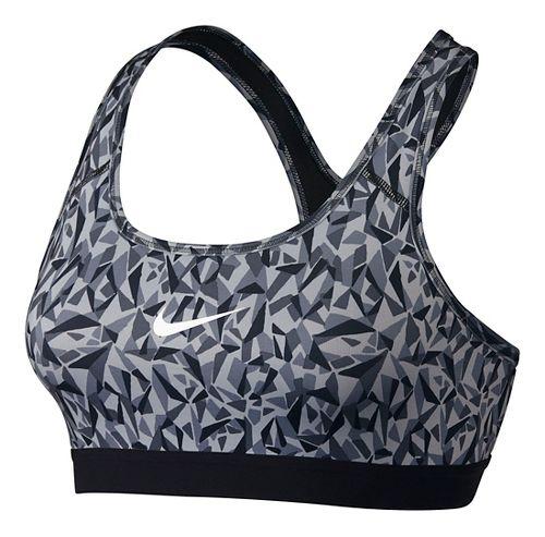 Womens Nike Pro Classic Facet Sports Bra - Wolf Grey/Black XS