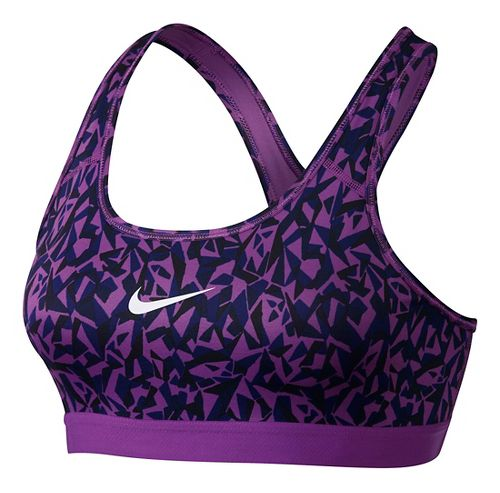 Womens Nike Pro Classic Facet Sports Bra - Cosmic Purple/Black S