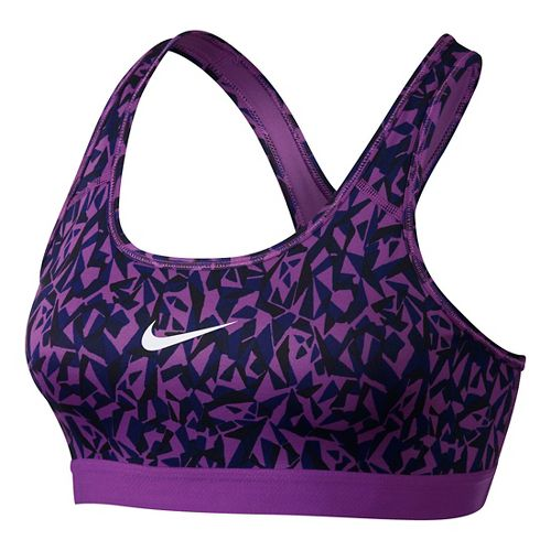 Womens Nike Pro Classic Facet Sports Bra - Cosmic Purple/Black XL
