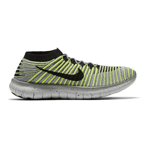 Mens Nike Free RN Motion Flyknit Running Shoe - Grey 10