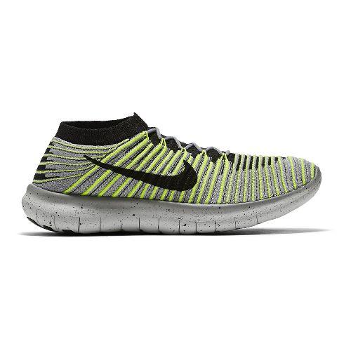 Mens Nike Free RN Motion Flyknit Running Shoe - Grey 9