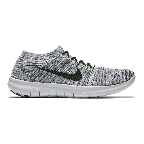 Mens Nike Free RN Motion Flyknit Running Shoe - White/Black 12
