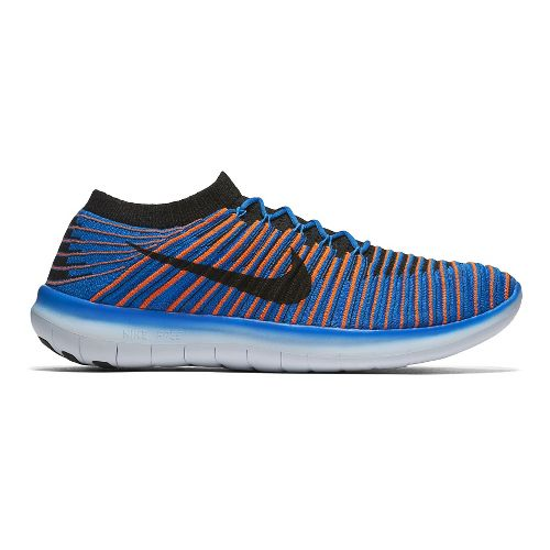 Mens Nike Free RN Motion Flyknit Running Shoe - Blue 13