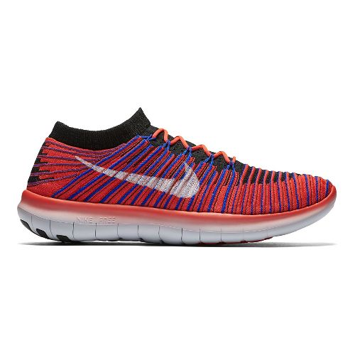 Mens Nike Free RN Motion Flyknit Running Shoe - Bright Crimson 14
