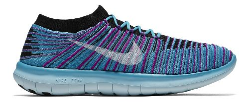 Womens Nike Free RN Motion Flyknit Running Shoe - Blue 10