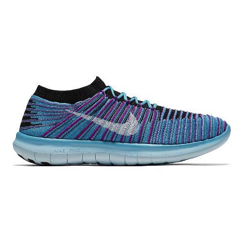 Womens Nike Free RN Motion Flyknit Running Shoe - Blue 7.5