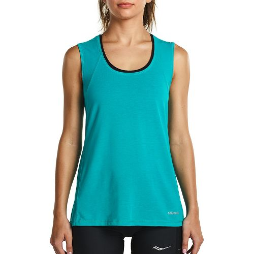Womens Saucony Freedom Sleeveless & Tank Tops Technical Tops - Barbados XS
