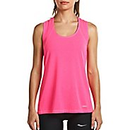 Womens Saucony Freedom Sleeveless & Tank Tops Technical Tops - VIZiPRO Pink S