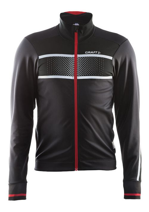 Mens Craft Glow Running Jackets - Black/Bright Red S