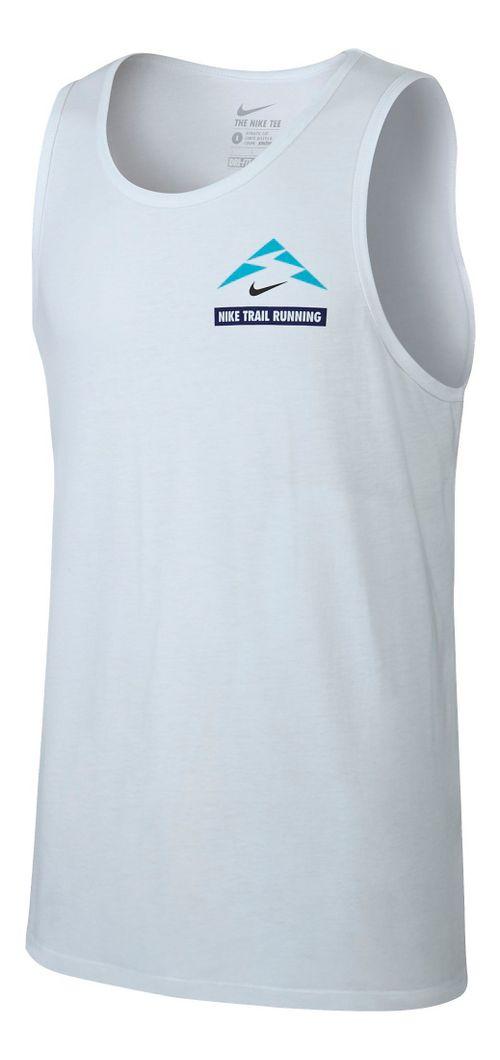 Mens Nike Run Trail Running Sleeveless & Tank Technical Tops - White L