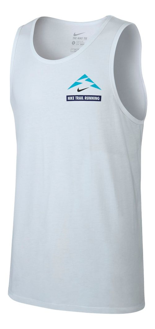 Mens Nike Run Trail Running Sleeveless & Tank Technical Tops - White M