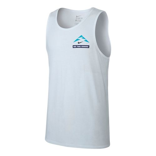 Mens Nike Run Trail Running Sleeveless & Tank Technical Tops - White S