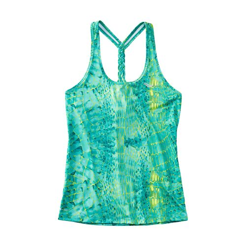 Womens Saucony Strider Sleeveless & Tank Technical Tops - Medium Green M