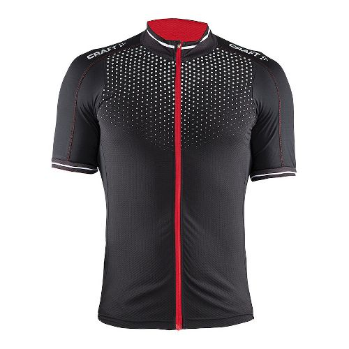 Mens Craft Glow Jersey Short Sleeve Technical Tops - Black/Bright Red S