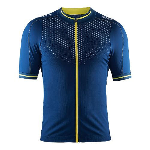 Mens Craft Glow Jersey Short Sleeve Technical Tops - Deep/Vega S