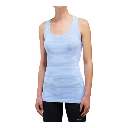 Womens Saucony Dash Seamless Sleeveless & Tank Technical Tops - Periwinkle XS