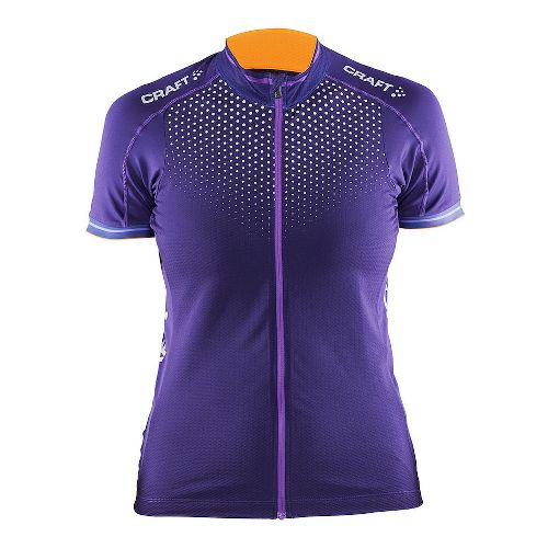 Womens Craft Glow Jersey Short Sleeve Technical Tops - Dynasty/Lilac L