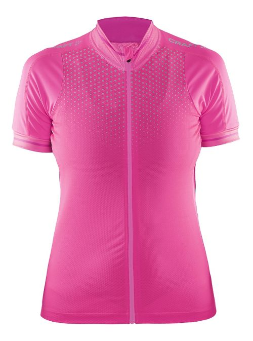 Womens Craft Glow Jersey Short Sleeve Technical Tops - Smoothie/Pop/Shine M