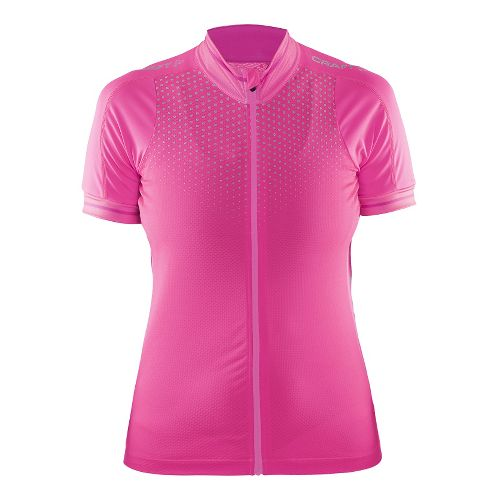 Womens Craft Glow Jersey Short Sleeve Technical Tops - Smoothie/Pop/Shine XS