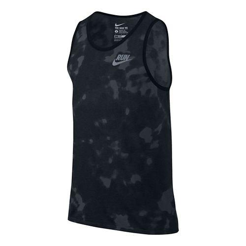 Run Tie Dye Sleeveless & Tank Technical Tops - Black/Grey S